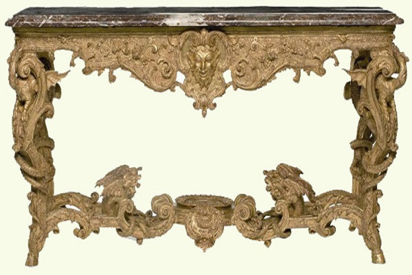 Baroque furniture got influence from Louis XIV of France redecoration of his palace.